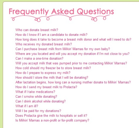 The FAQ from Milkin' Mamas